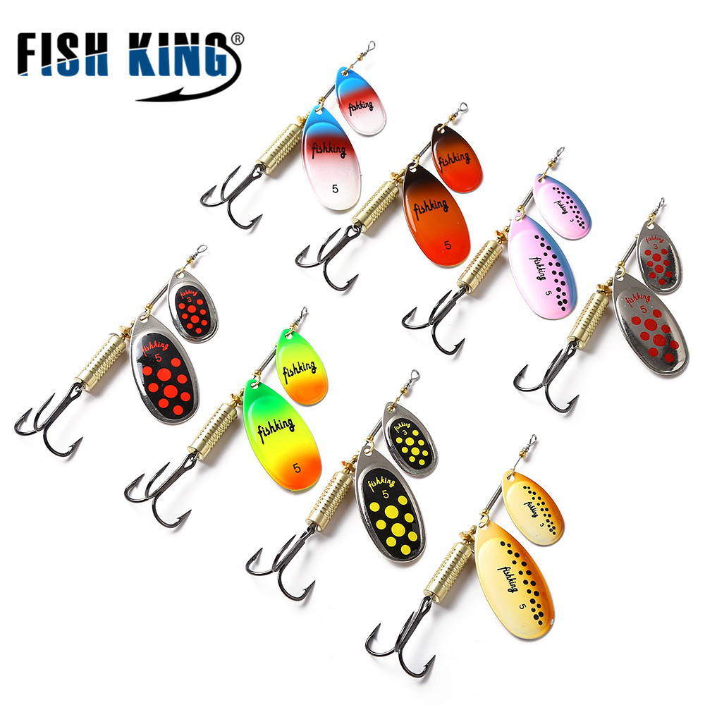 FISH KING 12cm-20g Mepps Long Cast Willow Double Shape With Mustad Hook Fishing Lure fish king 1pc 8pc bags mepps spoon 8 colors weight 20g 30g hook 2 3 artificial bait 10 5cm 12 0cm fishing lure for fish