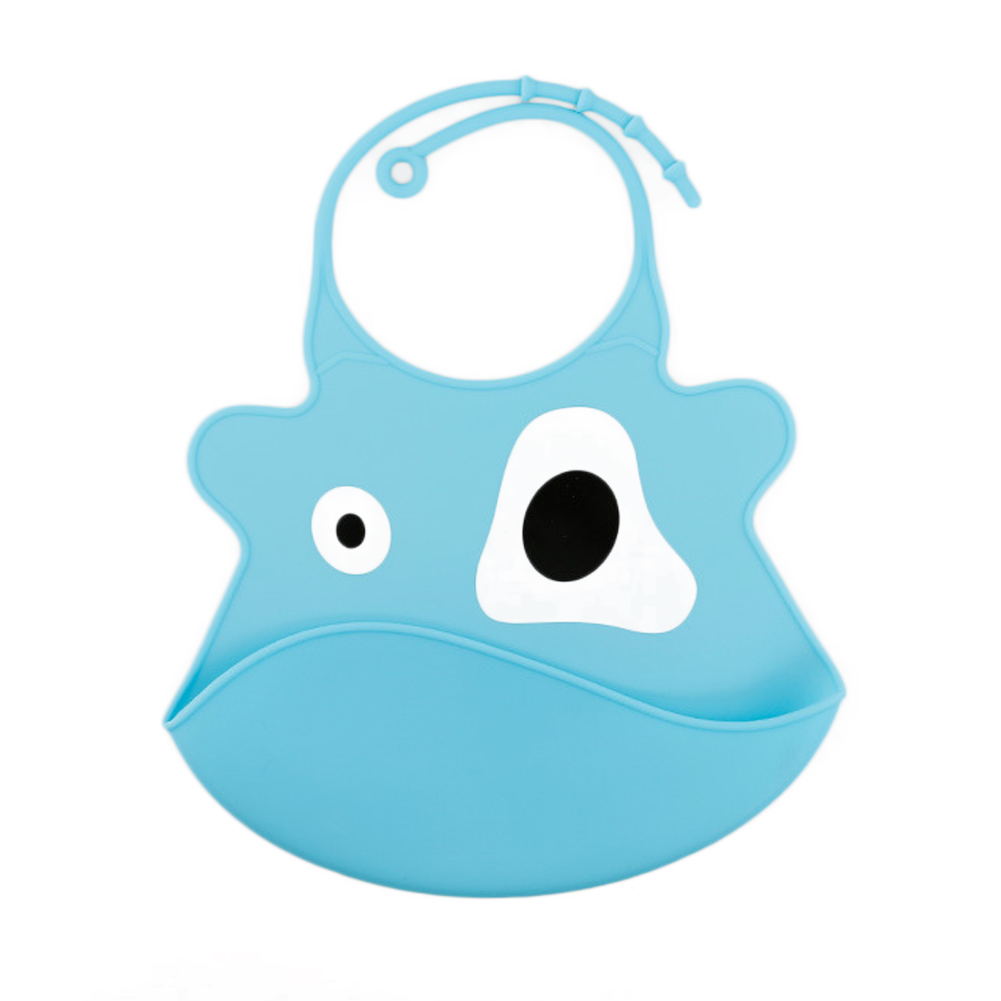 Imitation Silicone Baby Bib Cartoon Children Newborn Rice Pocket Waterproof Stereo Eat Meals Bibs
