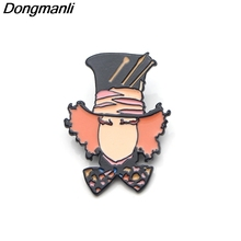 P3639 Dongmanli Alice in Wonderland Art Metal Enamel Pins and Brooches