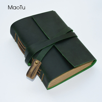 FREE SHIPPING Handmade Vintage Traveler S Notebook Genuine Leather Cover Diary Spiral Journal School