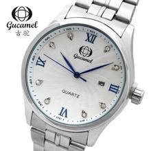 Original auténtica moda casual de negocios reloj de los hombres reloj de cuarzo resistente al agua de alto grado caliente tira blanca modelos masculinos