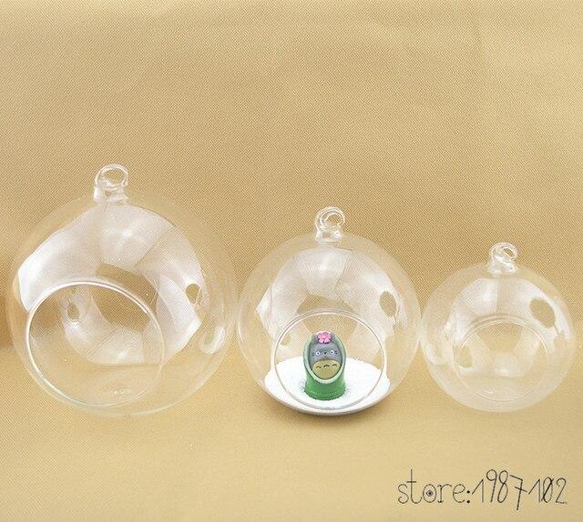 12pcs Glass Terrarium Ball Globe Shape Clear Hanging Vase Flower Air