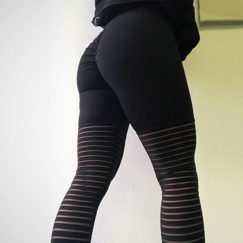 Для женщин сетки черный прозрачный удобные брюки Sexy Slim Fit Леггинсы со штрипками тренировки Леггинсы для женщин Для женщин Activewear с высокой та...