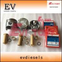 Oversize D1105  piston +0.50 and piston ring  +0.50 For Kubota U 20 3S excavator|Pistons  Rings  Rods & Parts|   -