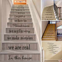 In This House Removable Wall Sticker Living Room Stairs Floor Decal Staircase Bumper Home & Living Wall Stickers
