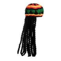 Новый мужской новый вязаный парик плетеная шляпа Боб Марли Раста шапка мужская ямайская многоцветный головной убор кисточка аксессуары дл...