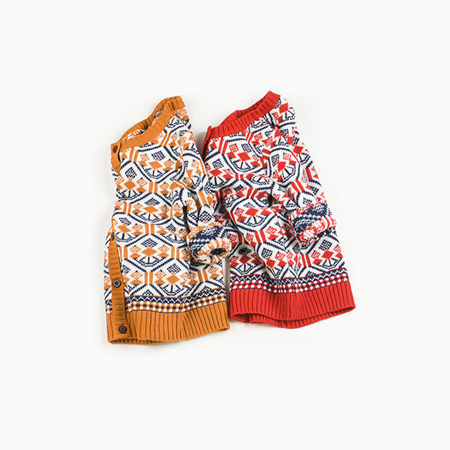 Nuevo llega 2-11 años de edad los niños Bebé suéter cardigan suéter de Navidad nieve