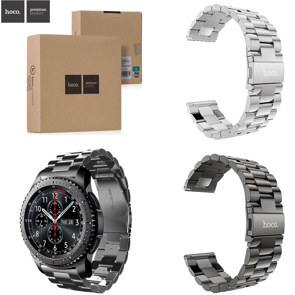 Prix pour Hoco de luxe 316l en acier inoxydable bracelet de montre pour samsung gear s3 frontière bracelet pour samsung gear s3 classique bande de remplacement