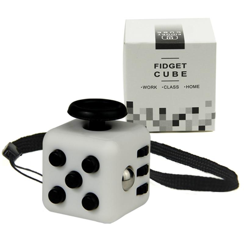 Mini Fidget Cube 11 Colours Desk Finger Toy Keychain Squeeze Fun Stress Reliever Puzzle Magic Cube With Box stress reliever squeeze pig toy with realistic sound effect random color size s