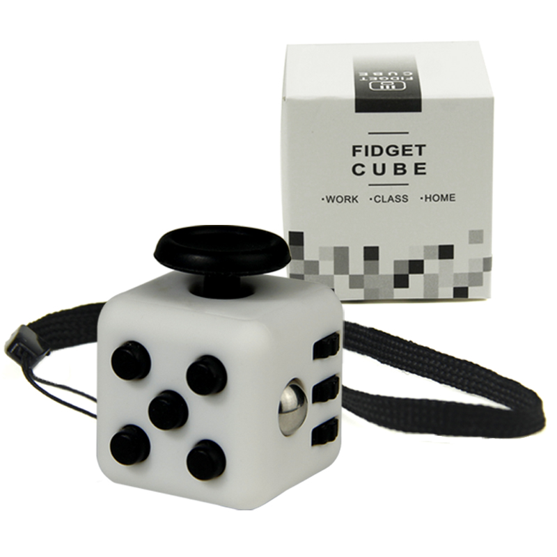 Mini Fidget Cube 11 Colours Desk Finger font b Toy b font Keychain Squeeze Fun Stress