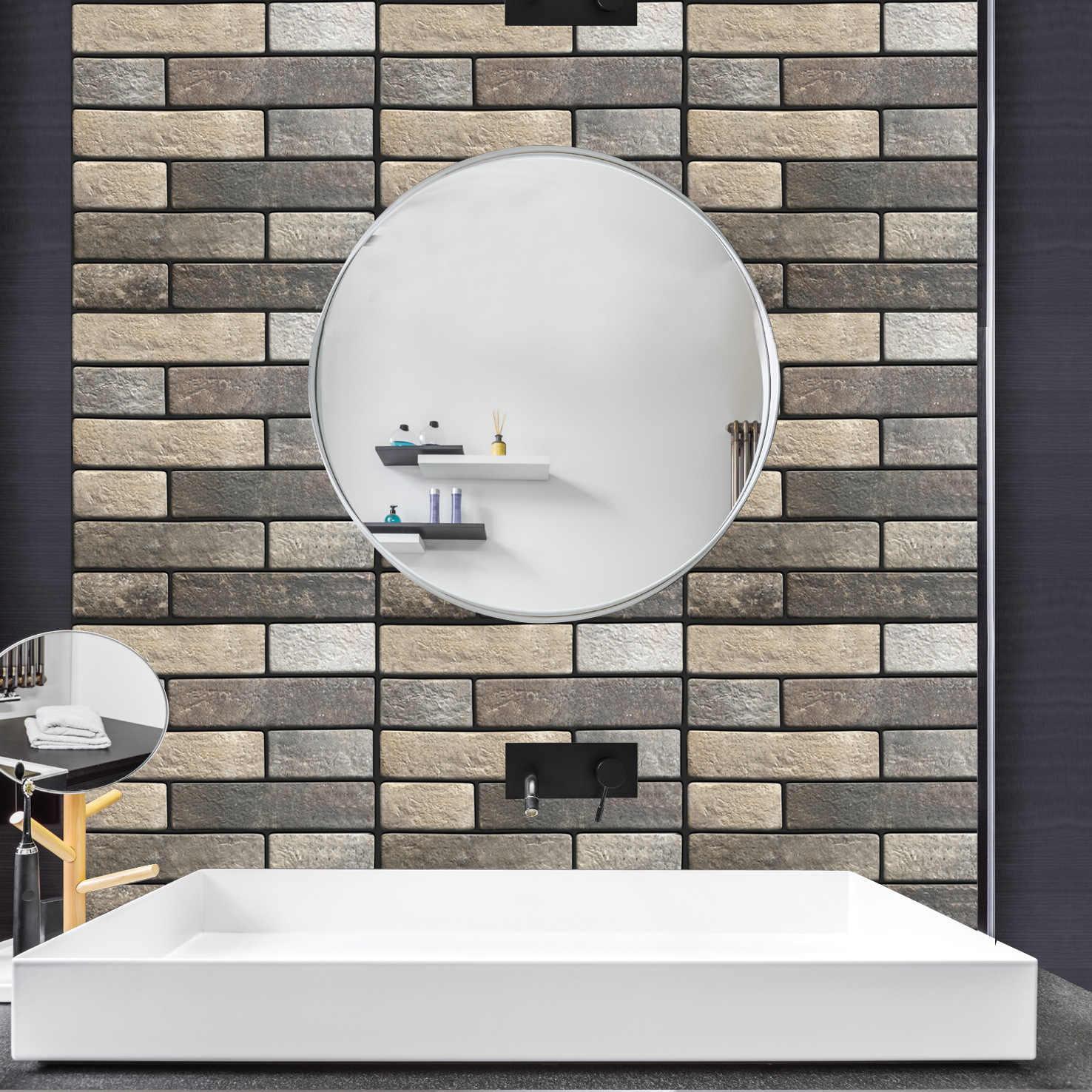 Piastrelle Pvc Adesive Cucina retro brick 3d adesivi per piastrelle pvc adesivo da parete