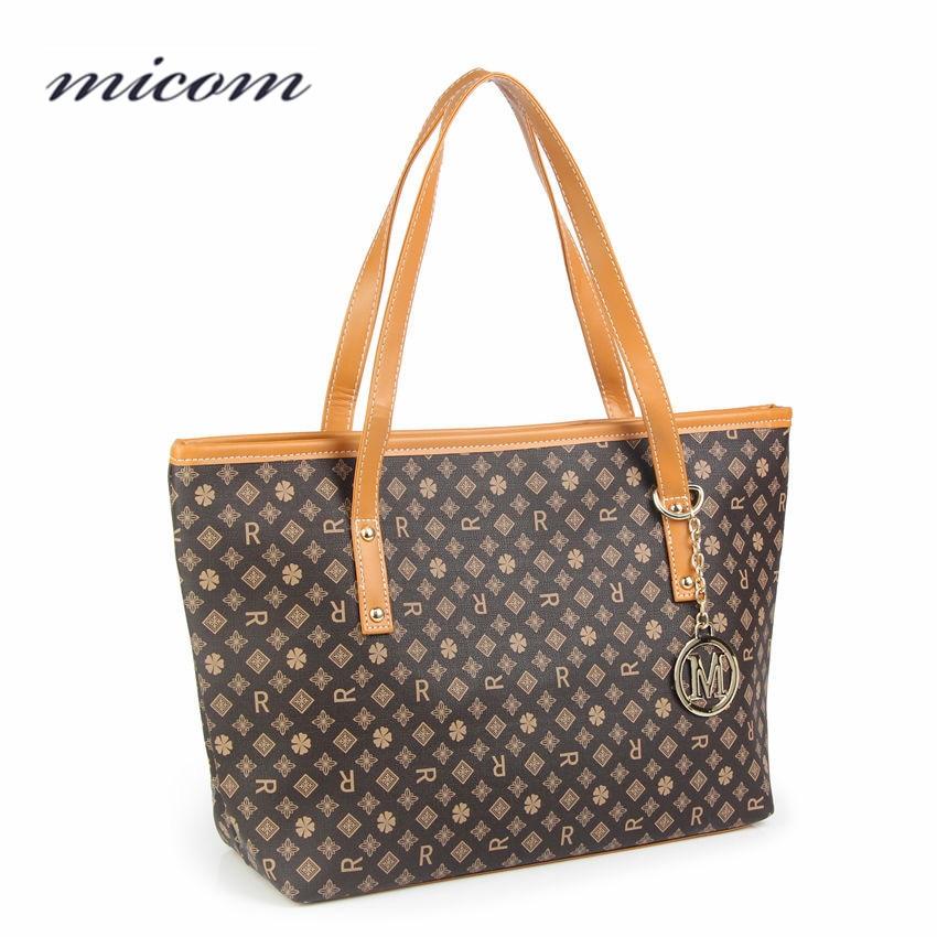Micom Printed Bag Female Luxury Handbags Women Bags Designer Shoulder Bags Women High Quality Leather Hand