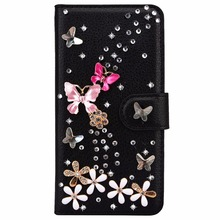 For Redmi Note 5 Bling Rhinestone Leather Filp Wallet Case For font b Xiaomi b font