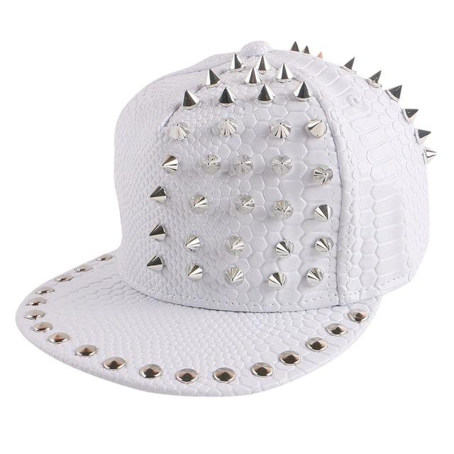 Das mulheres dos homens de hip hop snapback cap snap back chapéus costume handmade spide rebite boné de beisebol casquette esportes da menina do menino da novidade gorro