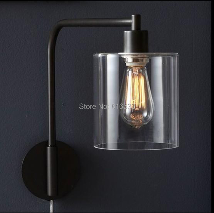 Loft Vintage Industrial American Country Retro Glass Edison Wall Sconce Lamp Bathroom Beside Mirror Home Decor Modern Lighting