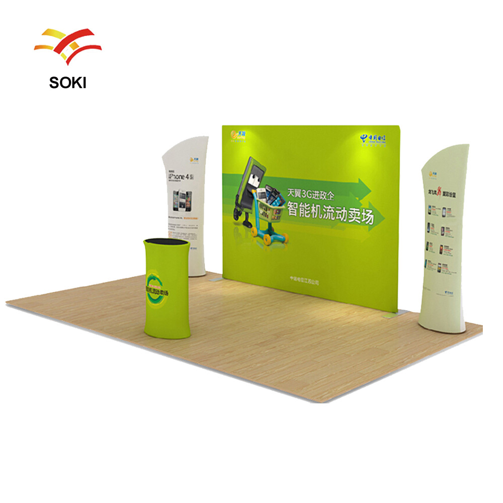 Exhibition Booth Size : M oem size straight exhibition booth pop up display stands for