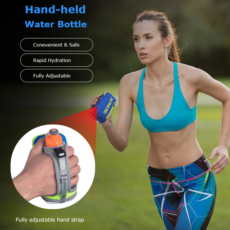 Image 5 - AONIJIE E907 Running Hand free Hand held Water Bottle Holder Wrist Storage Bag Hydration Pack Hydra Fuel Flask Marathon RaceRunning Bags   -