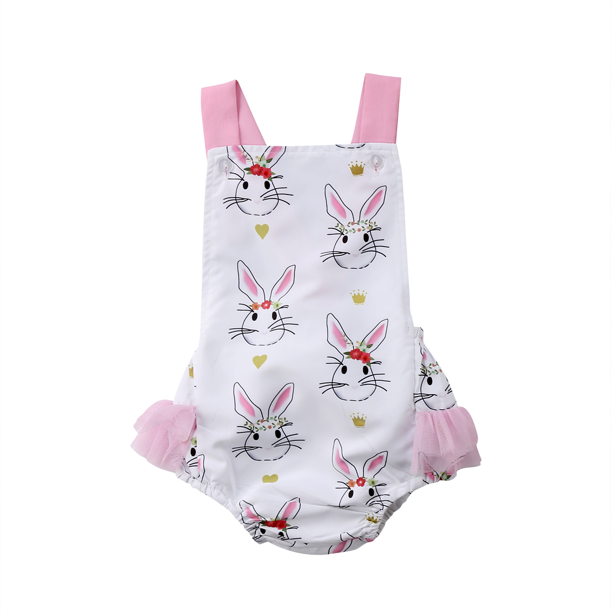 3a48ad449 Pudcoco 2018 Newborn Baby Girls Romper Cute Easter Bunny Pattern ...