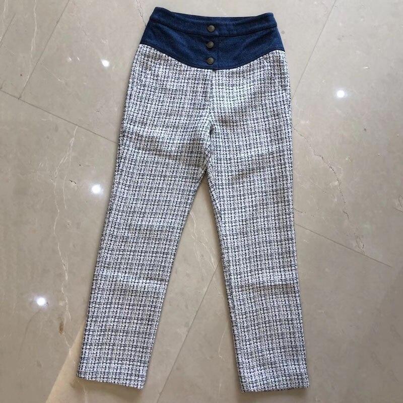 D'été Date Sexy Style 2019 Droit Dames Pantalon Femmes Mode Taille Haute Lâche qPHw0CPx