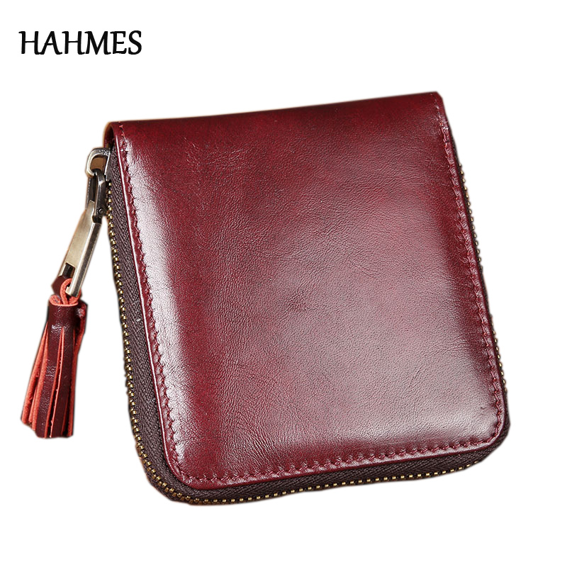 Fashion Small Wine red Wallet Short Men's Genuine Leather Male Wallet Credit Card Short Holder Coin Purse Free SHipping joyir vintage men genuine leather wallet short small wallet male slim purse mini wallet coin purse money credit card holder 523