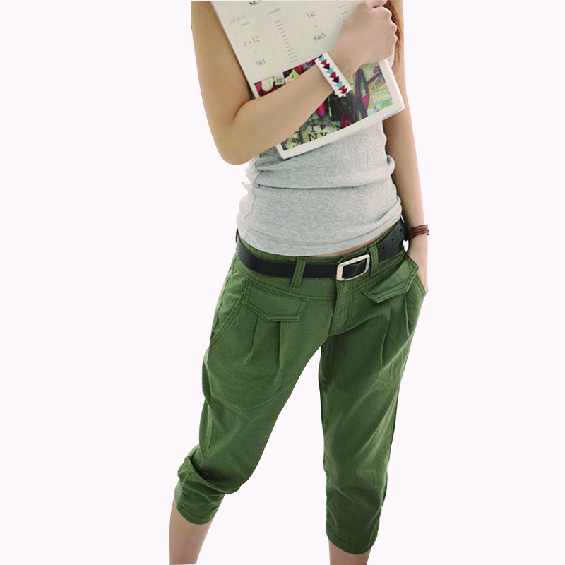 MOBTRS Capri   Pants   Women Plus Size Casual   Capris   For Women Elastic Stretch Pencil   Pants   Women Green Trousers