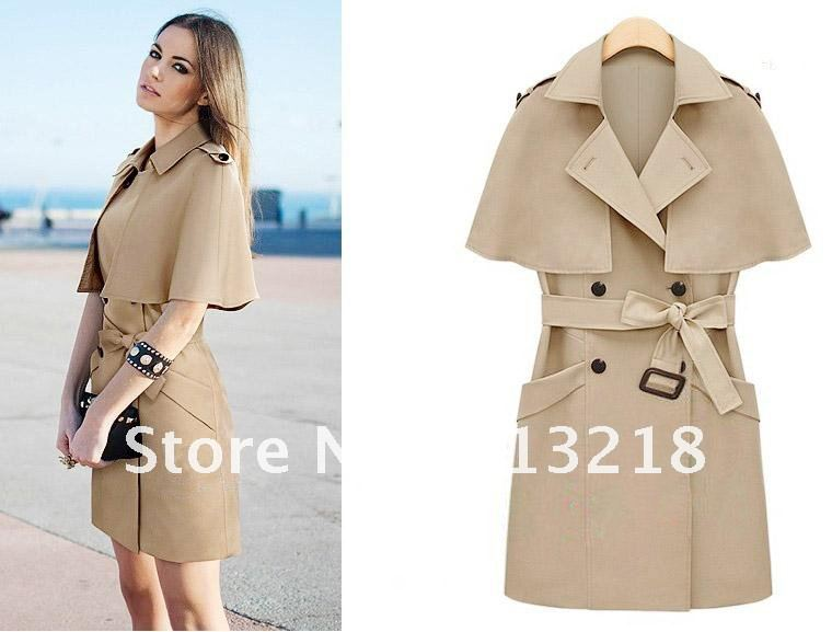 New Fashion Jooen Women Trench Coat,cotton nylon Short sleeve ...