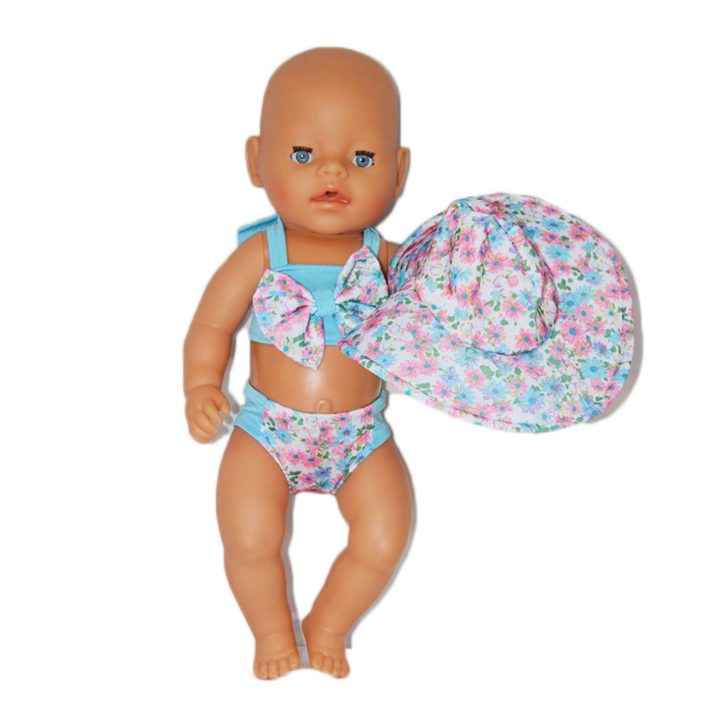 4b5ad27a1a30b Factory Price 43cm Baby Doll Clothes Bathing Suit With Sun hat Doll  Accessories Children Best Gift ZD181-in Dolls Accessories from Toys &  Hobbies on ...