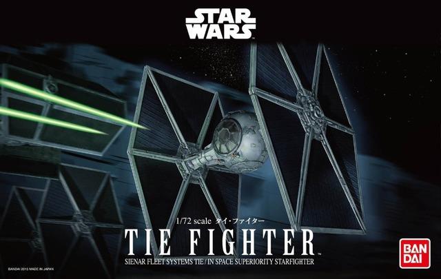 BANDAI genuine série Star Wars 1: 72 Tie Fighter ESCALA modelo de montagem 194870