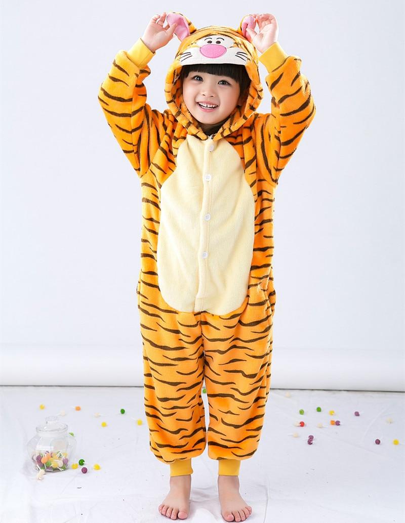 Cizgi filmi Heyvan Onesie Kostyum Tiger Uşaqlar üçün geyimlər, - Karnaval kostyumlar - Fotoqrafiya 3