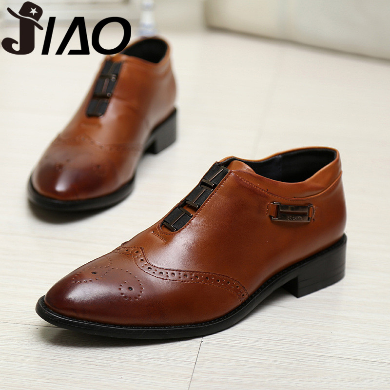 afbbcadd 2016 spring new business class increased for men pointed imitation leather  shoes men's fashion casual shoes men shoes casual-in Men's Casual Shoes  from ...