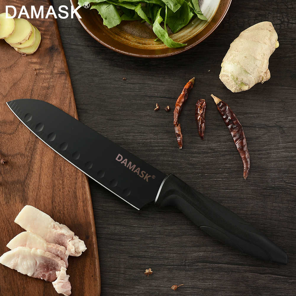 Şam Şef Mutfak Bıçakları Seti japon malı paslanmaz çelik 6 parça Bıçak Seti Profesyonel Şefler Pişirme yapışmaz Et Cleaver