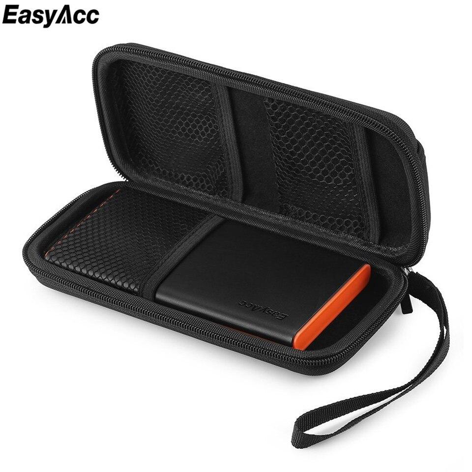 Easyacc PowerBank Батарея случае Ева внешний Батарея чехол для Anker Xiaomi рок PISEN BASEUS aukey индивидуальные туристические Pounch ...