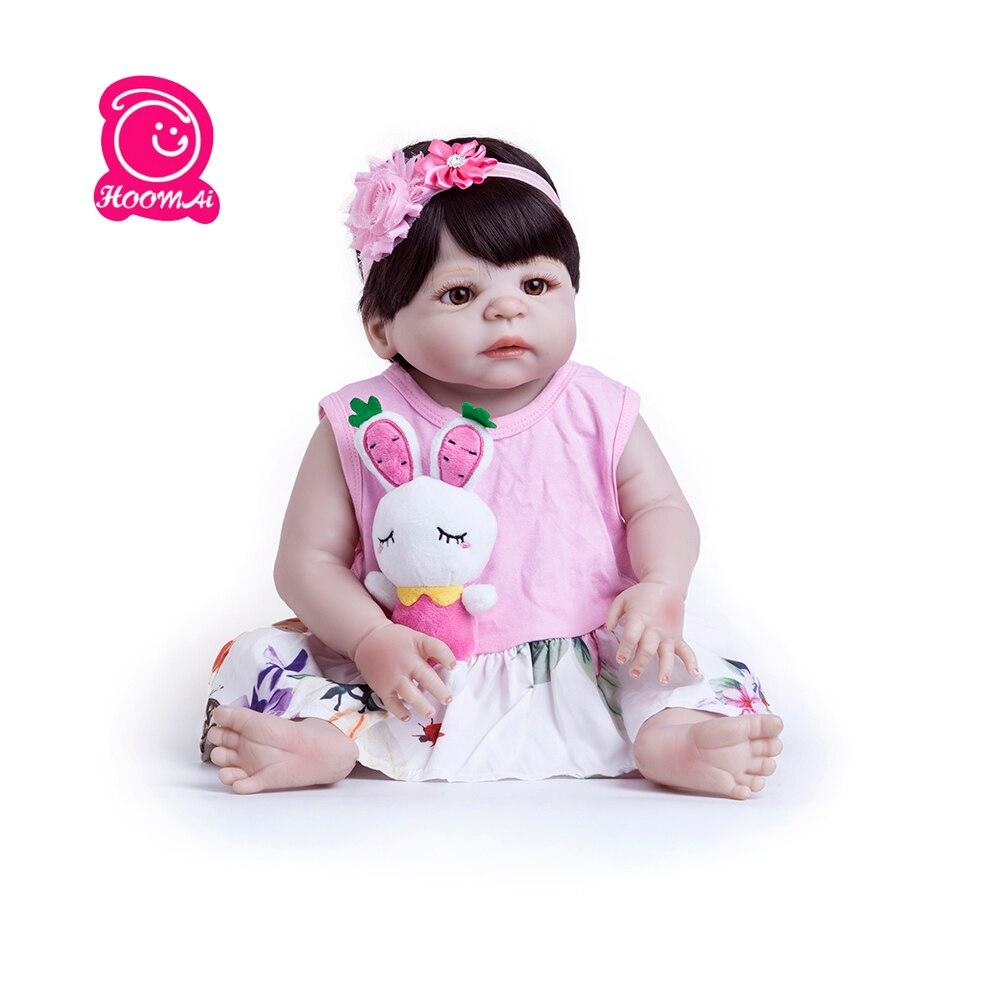 Nouveau 55cm Silicone corps entier haute qualité Reborn poupée vraie vie princesse bébé poupée pour enfants lol cadeaux d'anniversaire étanche
