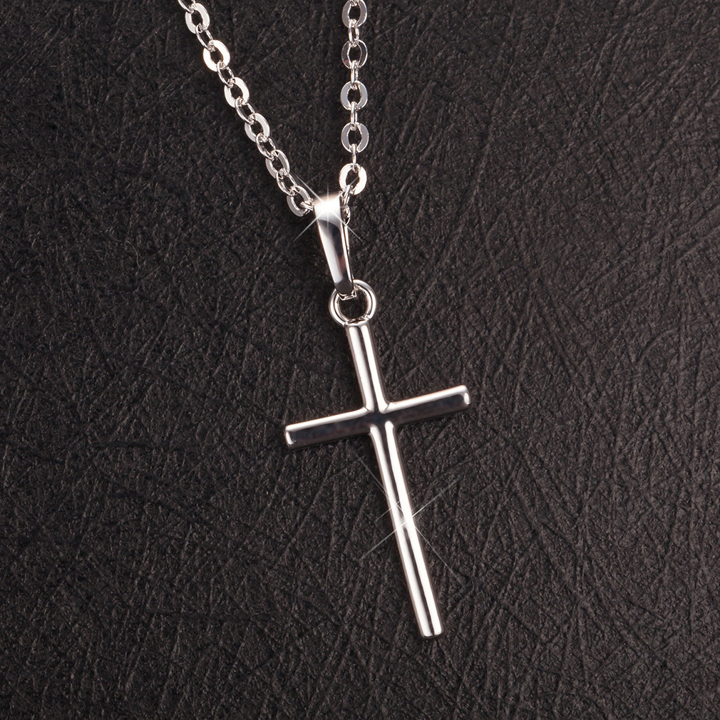 Cross Jesus pendant necklace wild sweater chain Jesus prayer