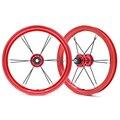 Супер легкий 12 дюймов AL6061 алюминиевая колесная установка детский баланс велосипед Красочные алюминиевого сплава колесная детская Kokua 85 мм ...