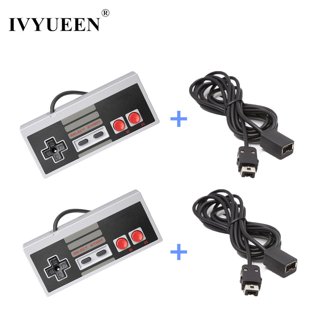 IVYUEEN Gamepad For Nintend NES Mini Classic Edition Console Controller With 1.8m 3 M / 10FT Extension Cable Cord