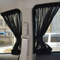 New 2pcs Black Auto Sun Visor Sun Shade Car Window Suction Cup Curtain Styling Covers Automobiles Curtain Free Shipping