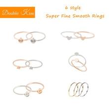 Супер тонкие гладкие кольца из титановой нержавеющей стали, образец стиля, Модные женские ювелирные изделия, свадебные, Обручальные, вечерние, подарок