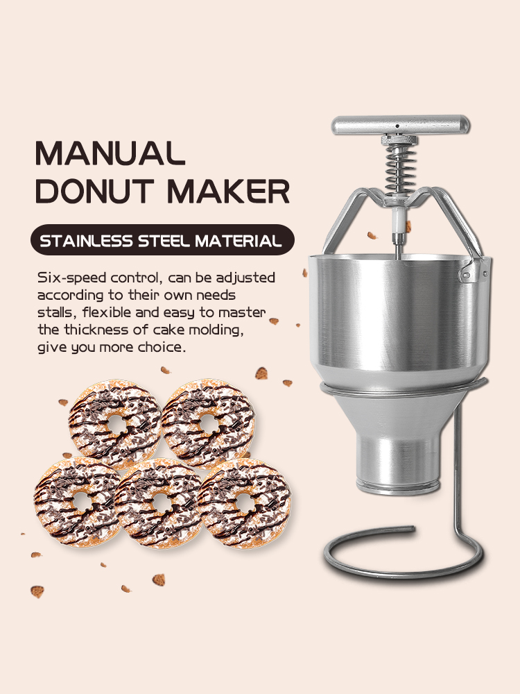 ITOP 2.5L Donut Maker Stainless Steel Waffle Dispenser Donut Mould Snack Machine Adjustment Size Food Processor