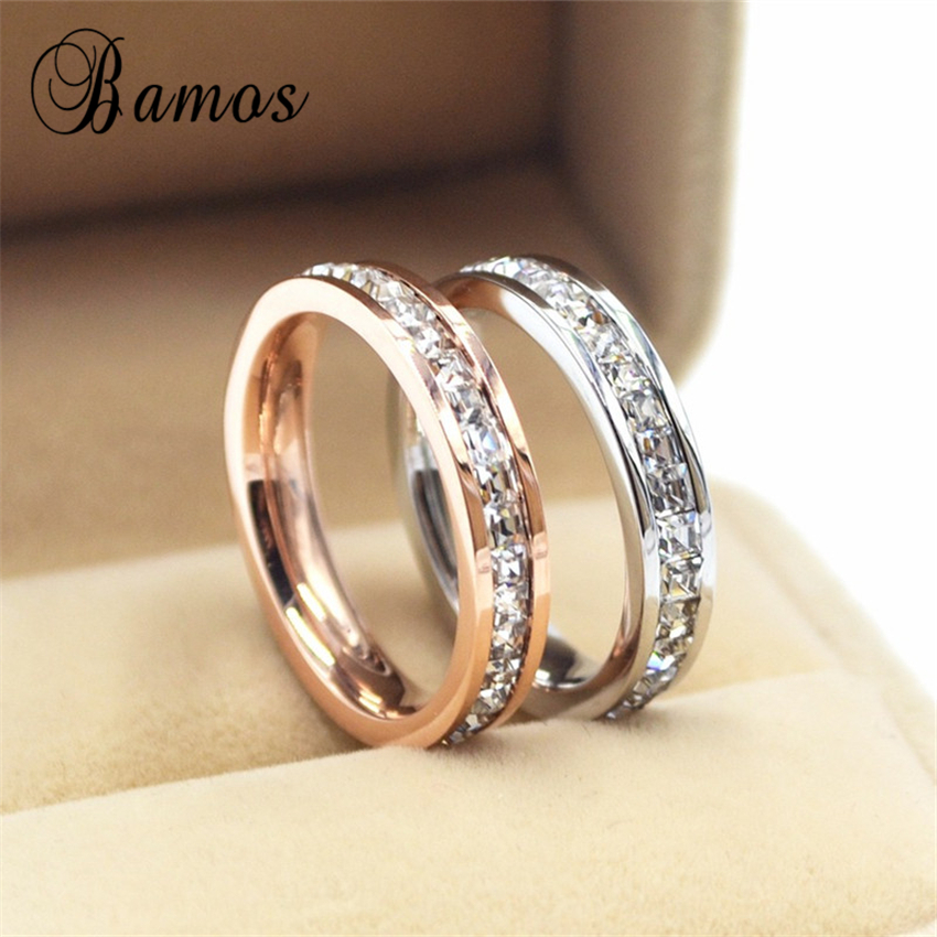 female girls geometric ring 925 sterling silver filled rose gold ring promise wedding engagement rings for women best gifts - Cute Wedding Rings