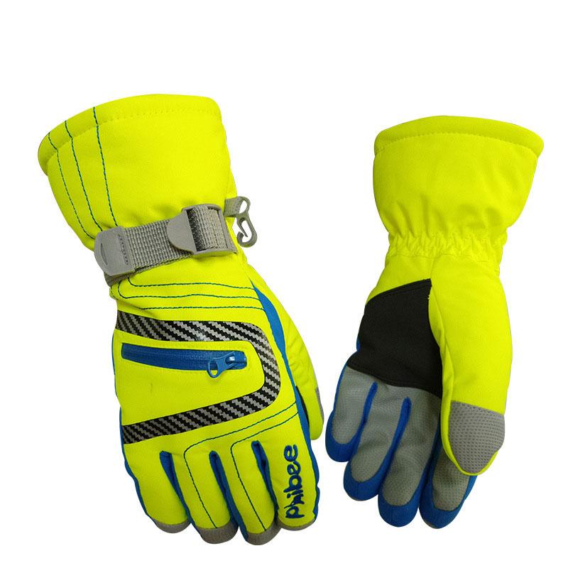 Ski Gloves 6-12 Years Old Children's Gloves Thicken Windproof Waterproof Winter Glove Baby Boys Girls Outdoor Ski Necessaries
