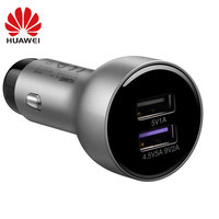 Original Huawei Honor Supercharge AP38 Car Charger 4.5V 5A 27.5W Max Dual USB with 5A Type C Data Cable
