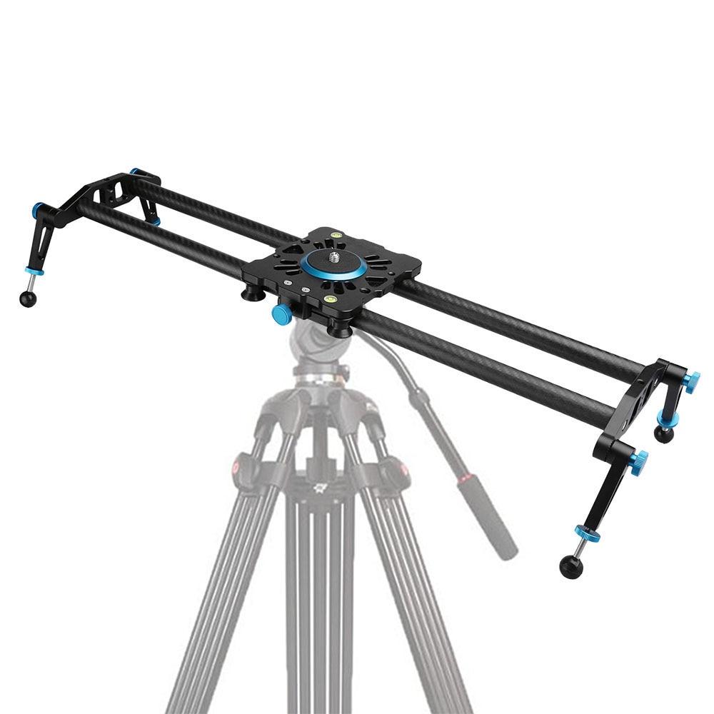 bilder für Neue Professionelle 60 cm/80 cm/100 cm Kohlefaser Reise Tragbare Lager Videokamera Slider Stabilisator Dolly Camcorder DSLR Slider