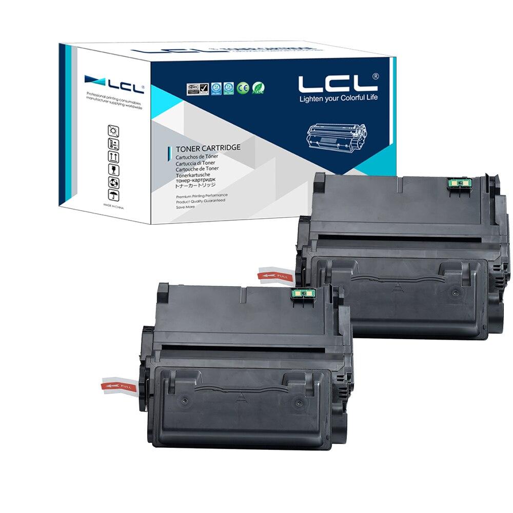 LCL 42A 42X Q5942A Q5942X Q1339A Q5945A 20000 Pages (2-Pack Black) Toner Cartridge Compatible for HP LaserJet 4200/4300/4250 lcl mlt d204e mltd204e d204 204e 204 1 pack black 10000 pages toner cartridge compatible for samsung sl m3825 4025 3875 4075