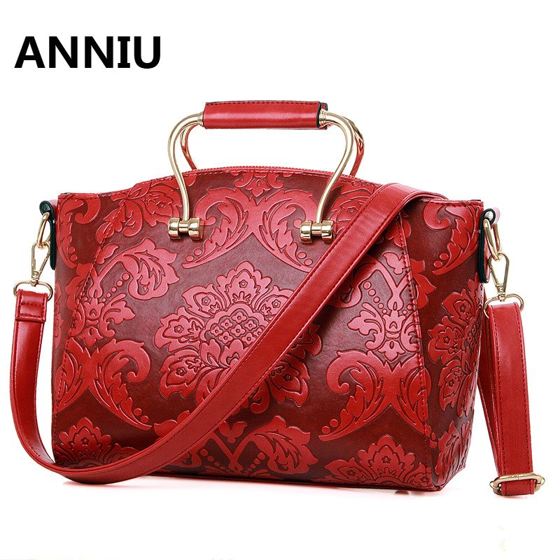 ANNIUl famous brand Chinese Chinese style Printing handbags high quality designer National luxury Laday shoulder bag bolso mujer