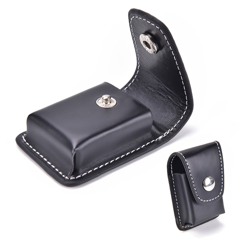 1PCS Windproof Black <font><b>Lighter</b></font> Men Cigarette <font><b>Lighter</b></font> Holder <font><b>Bag</b></font> Small Box Case For <font><b>Zippo</b></font> Super Match High Leather Cover image