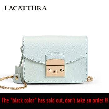 b84d5f95c17d LACATTURA мини конфетная сумка женская сумка-мессенджер из воловьей кожи  брендовая Кожанная сумка женская цепь сумка на плечо модная сумка чере.
