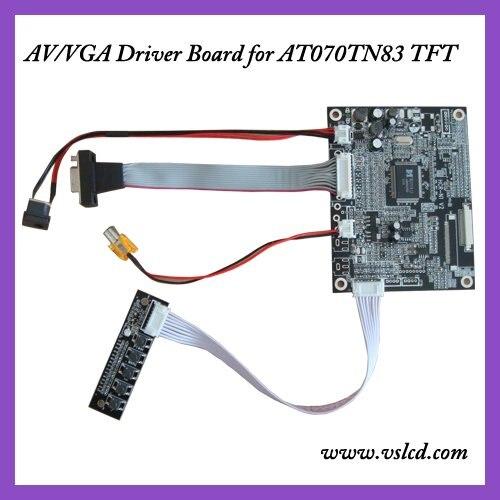 VGA+AV input signal TFT Driver board of 7inch AT070TN83  tft dispay panels VGA driver board l175d l174d driver board 491641300100r ilif 092 signal board used disassemble
