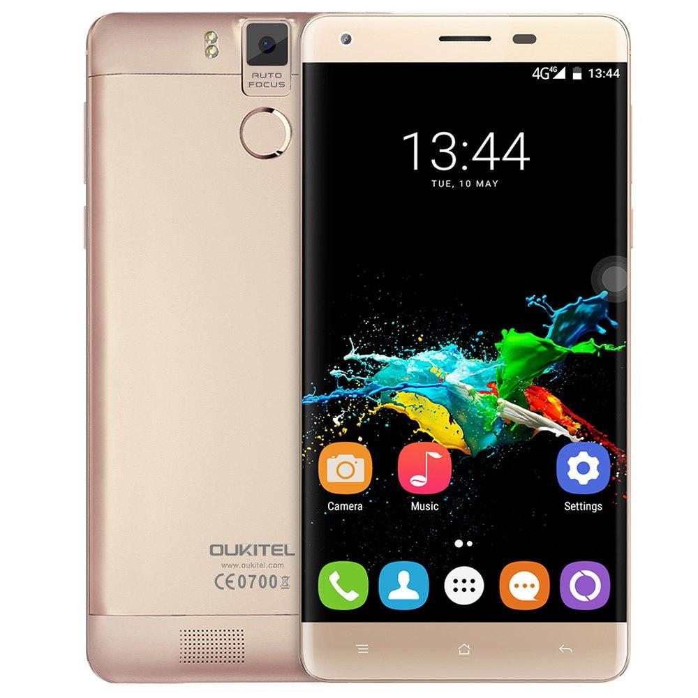 Цена за Оригинал K6000 Oukitel Pro Android 6.0 Мобильный Телефон 6000 мАч 4 Г 5.5 Дюймов 3 Г + 32 Г MTK6753 Octa Ядро 16MP Отпечатков Пальцев Смартфон