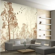 photo wallpaper flash Classic simplicity hazy beauty bird tree Art wall paper wall mural wallpaper painting for living room(China)